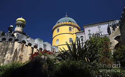 Photograph - Yellow Tower At Pena Palace by John Rizzuto