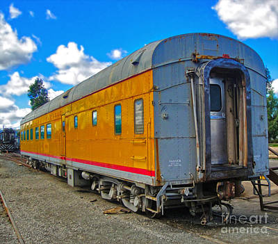 Photograph - Yellow Train Car by Gregory Dyer
