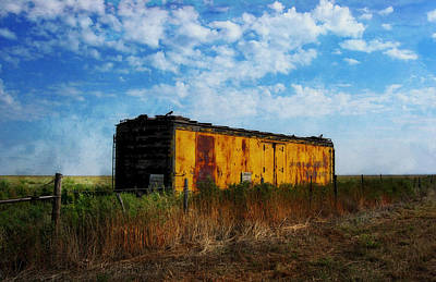 Digital Art - Yellow Train Car by Sandra Selle Rodriguez