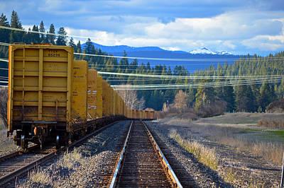 Yellow Train To The Mountains Art Print