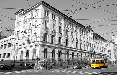 Photograph - Yellow Tram by Valentino Visentini