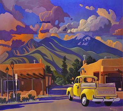 Art Print featuring the painting Yellow Truck by Art James West