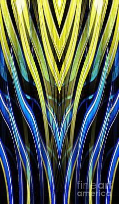 Digital Art - Yellow Tulip Abstract by Sarah Loft