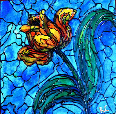 Painting - Yellow Tulip by Rae Chichilnitsky