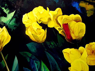 Painting - Yellow Tulips by John  Duplantis