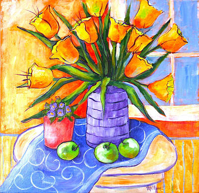 Painting - Yellow Tulips by Pat Olson