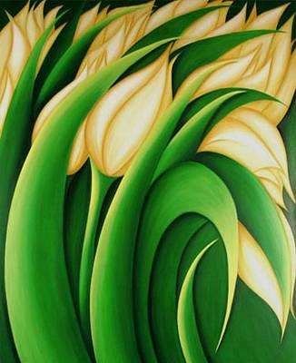 Painting - Yellow Tulips by Tracey Harrington-Simpson
