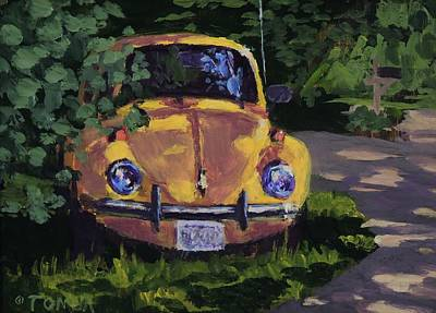 Painting - Yellow Vee Dub by Bill Tomsa