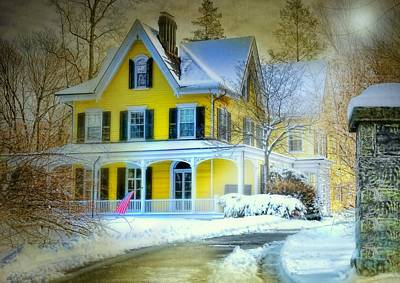 Photograph - Yellow Victorian Farm House by Diana Angstadt