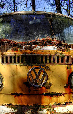 Pine Needles Photograph - Yellow Vw by Greg Mimbs