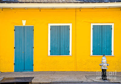 Photograph - Yellow And Blue Creole Cottage by Jerry Fornarotto