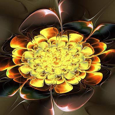 Digital Art - Yellow Water Lily by Anastasiya Malakhova