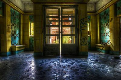 Destruction Digital Art - Yellow Way by Nathan Wright