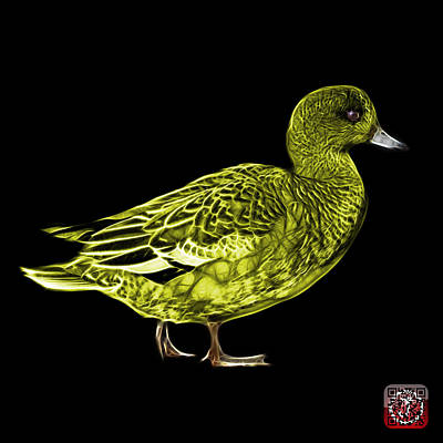 Mixed Media - Yellow Wigeon Art - 7415 - Bb by James Ahn