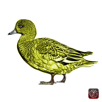 Mixed Media - Yellow Wigeon Art - 7415 - Wb by James Ahn