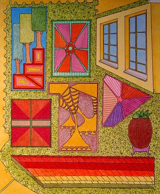 Drawing - Yellow Window by Gregory Carrico