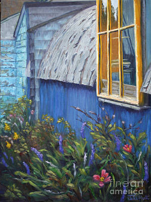 Worn Down Painting - Yellow Window by Julie Hart
