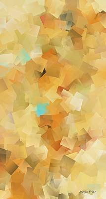 Digital Art - Yellow With Blue Abstract by Jamie Frier