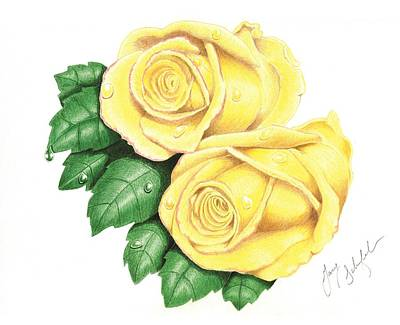 Yellow With Pink Tips Art Print