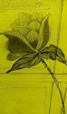 Yellow Wood Flower Art Print by Rob Hans