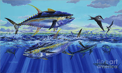 Atlantic Ocean Painting - Yellowfin Bust Off0083 by Carey Chen