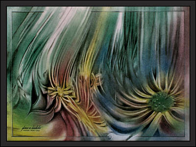Pastel - Yellowflowerscape 2010  by Glenn Bautista