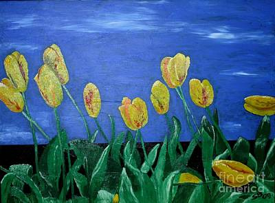 Yellowred Tulips Art Print