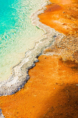 Photograph - Yellowstone Abstract by Sebastian Musial