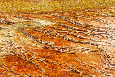 Photograph - Yellowstone Abstract by Stuart Gordon