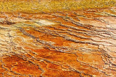 Photograph - Yellowstone Abstract by Stuart Gordon