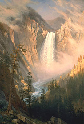 Scenery Digital Art - Yellowstone by Albert Bierstadt