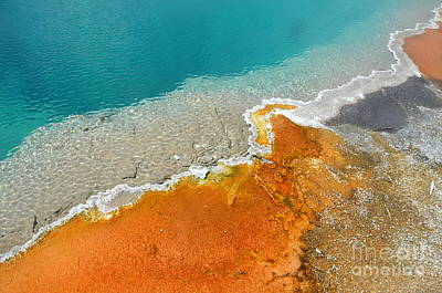Photograph - Yellowstone Colorful Black Pool by Debra Thompson