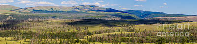 Photograph - Yellowstone Caldera Panoramic by Jennifer White