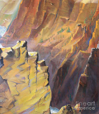 Painting - Yellowstone Canyon - Tolpo Point Mural Panel 7 by Art By Tolpo Collection