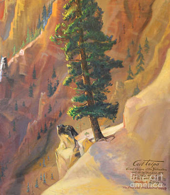 Painting - Yellowstone Canyon - Tolpo Point Mural Panel 8 by Art By Tolpo Collection
