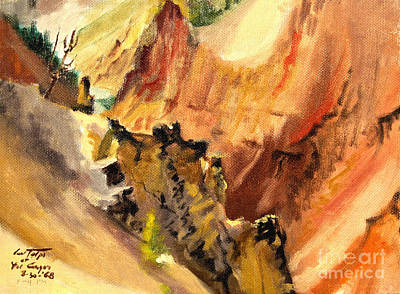 Painting - Yellowstone Canyon Buttress by Art By Tolpo Collection
