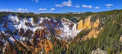 Photograph - Yellowstone Canyon Panorama by Greg Norrell