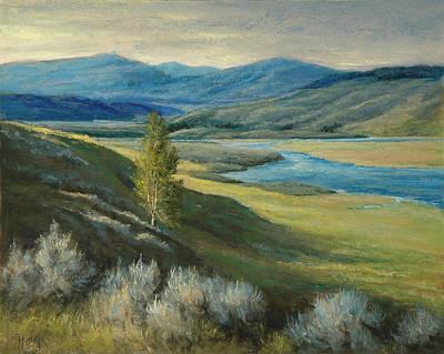 Painting - Yellowstone Evening by Gary Huber
