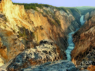 Photograph - Yellowstone Falls by Bob McGill