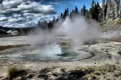 Yellowstone Digital Art - Yellowstone Geyser Basin 02 by Paddrick Mackin