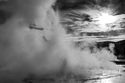 Photograph - Yellowstone Geyser by Jim West