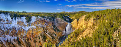 Photograph - Yellowstone Grand Canyon Panorama From Lookout Point by Greg Norrell