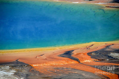 Photograph - Yellowstone Grand Prismatic Colors by Debra Thompson