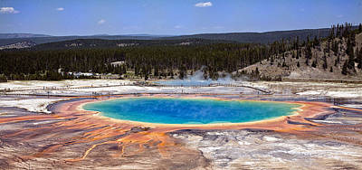 Teton Digital Art - Yellowstone Grand Prismatic Spring by Georgia Fowler