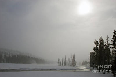 Photograph - Yellowstone In Winter by Jim West