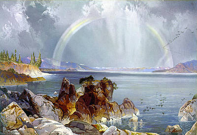 Yellowstone Digital Art - Yellowstone Lake 1875 by Unknown