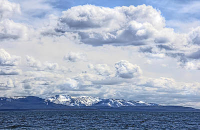 Photograph - Yellowstone Lake  Absaroka Mountains by Jennie Marie Schell