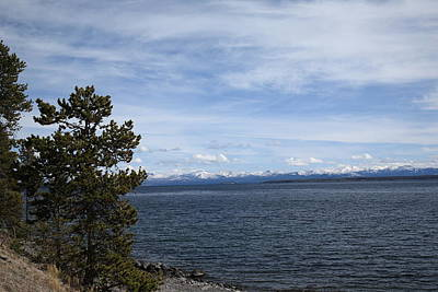 Photograph - Yellowstone Lake And Mountains by Frank Romeo