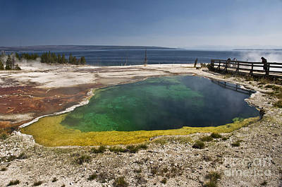 Sapphire Photograph - Yellowstone Lake by Delphimages Photo Creations