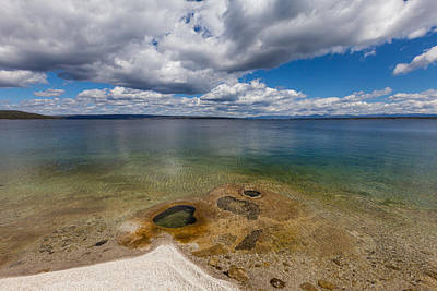 Photograph - Yellowstone Lake  by Fran Riley